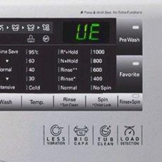 Ошибка UE на стиральной машине LG