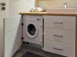Как встроить встраиваемую стиральную машину: особенности, способы