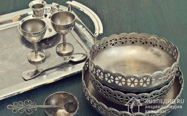 Почистить серебро от черноты в домашних условиях с помощью 663